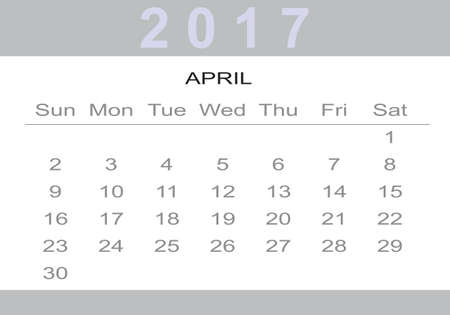event planner: monthly Calendar 2017