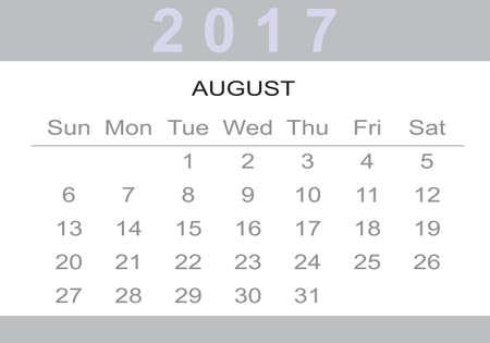 calendar: monthly Calendar 2017