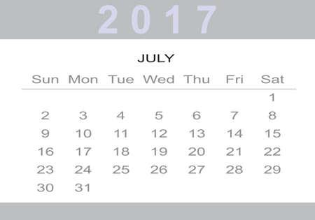 monthly Calendar 2017 Imagens - 57840183