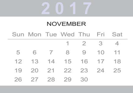 monthly Calendar 2017