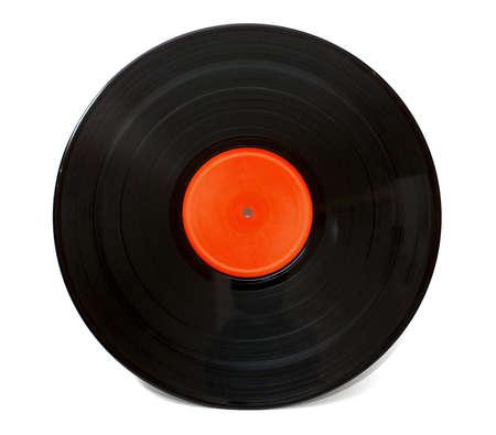 Gramophone vinyl record isolated on white background