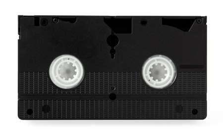 videocassette: Cinta de v�deo aislado sobre fondo blanco Foto de archivo