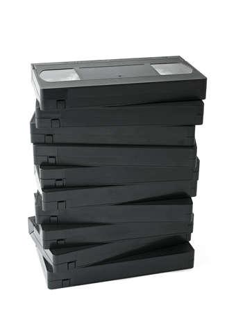 videokassette: Videokassette auf wei?em Hintergrund