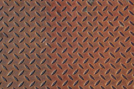 Rusted corrugated steel plate background