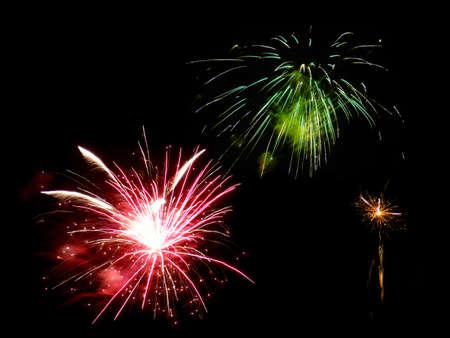 Holiday fireworks Stock Photo
