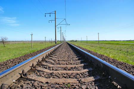 Railroad to the skyline Stock Photo - 8502672