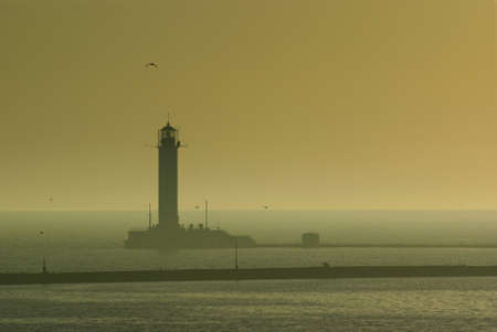Early morning Odessa lighthouse Stock Photo - 8503410
