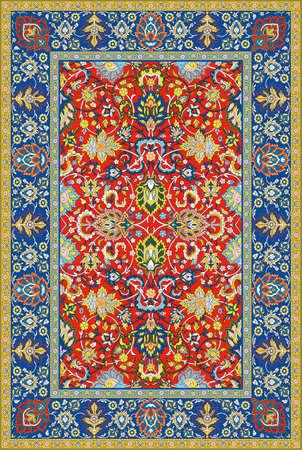 ペルシア: 詳細なベクトルのペルシャ カーペット