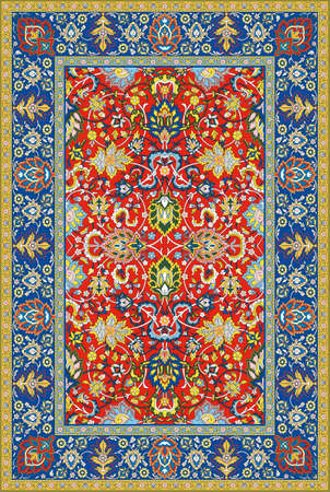 Persian detailed vector carpet Stock Vector - 8504221