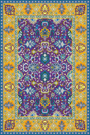 Persian detailed vector carpet Stock Vector - 8504228