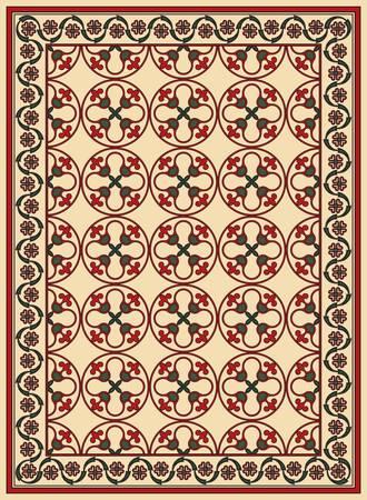 Persian detailed vector carpet Stock Vector - 8504189