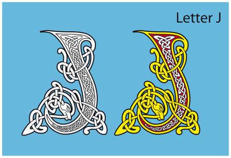 Ancient Celtic alphabet (26 letters) Stock Vector - 8503966