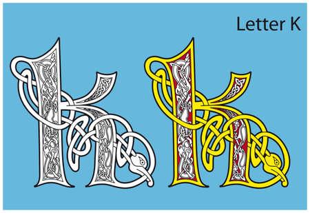 古代ケルト族のアルファベット (26 の手紙)