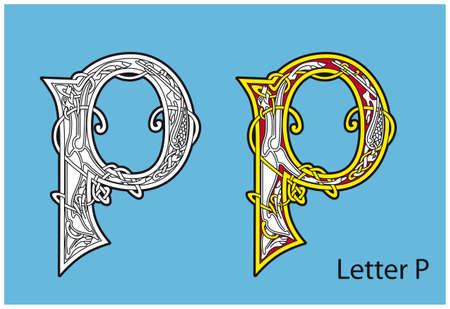 Ancient Celtic alphabet (26 letters) Stock Vector - 8503985