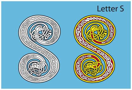 Ancient Celtic alphabet (26 letters) Stock Vector - 8503972