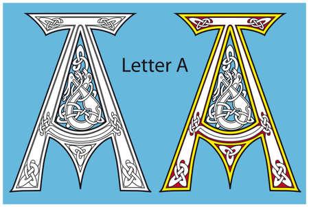 Ancient Celtic alphabet (26 letters) Stock Vector - 8503973