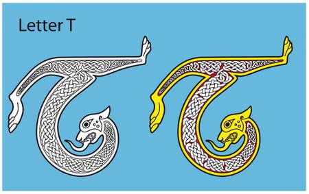 Ancient Celtic alphabet (26 letters) Stock Vector - 8504010