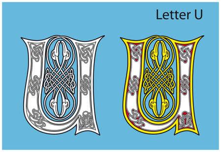 Ancient Celtic alphabet (26 letters) Vector