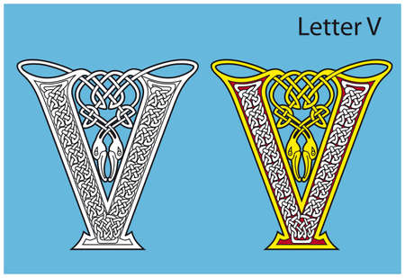 Ancient Celtic alphabet (26 letters) Vector