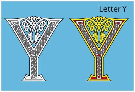 Ancient Celtic alphabet (26 letters) Stock Vector - 8503983