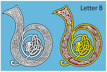 Ancient Celtic alphabet (26 letters) Stock Vector - 8503986