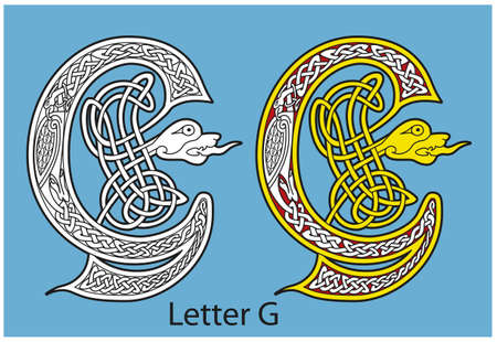 Ancient Celtic alphabet (26 letters) Stock Vector - 8503979