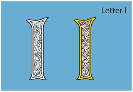 Ancient Celtic alphabet (26 letters) Stock Vector - 8503975