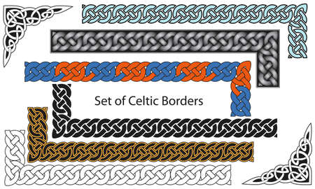 braid: Vector set of Celtic style borders