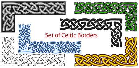 Vector set of Celtic style borders Stock Vector - 8504051