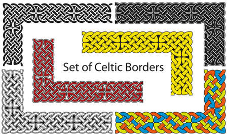 Vector set of Celtic style borders Stock Vector - 8504172
