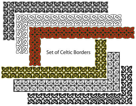 Vector set of Celtic style borders Stock Vector - 8504184
