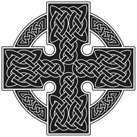 keltisch: Vector Keltenkreuz traditionellen ornament