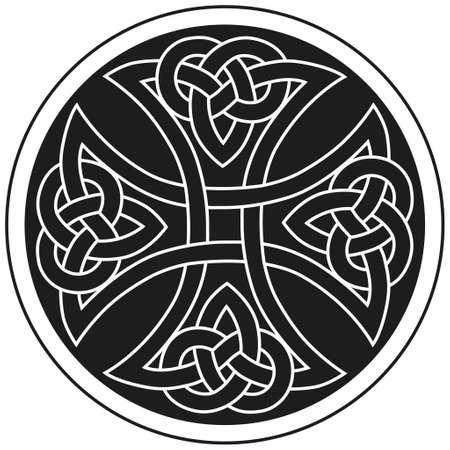 keltisch: Vector Keltenkreuz traditionelle ornament