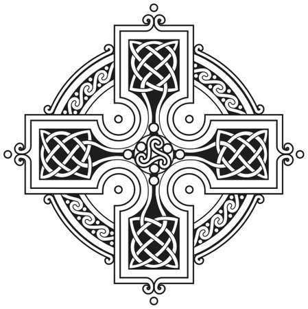 celtic cross: Vector celtic cross traditional ornament