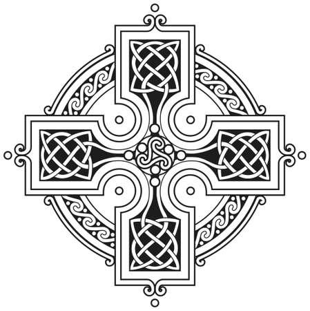 croce celtica: Vector croce celtica tradizionale ornamento
