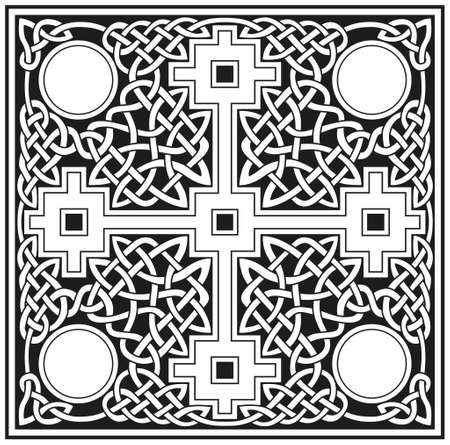 Celtic cross vector design Vector