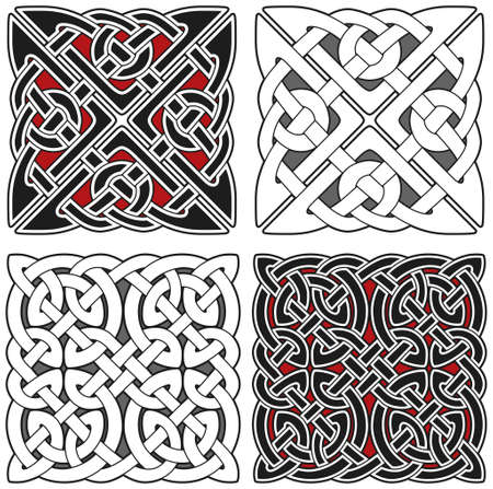 Set of celtic design elements Stock Vector - 8504007