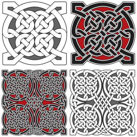 Set of celtic design elements Illustration