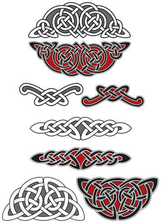 Set of celtic design elements Vector