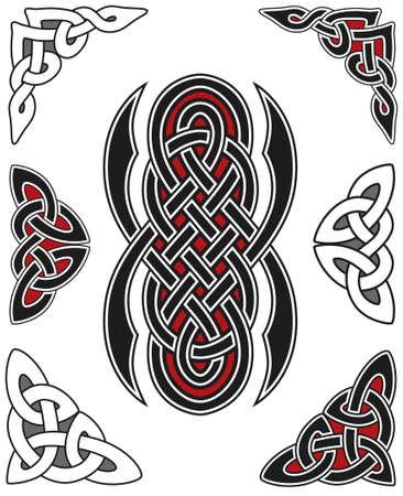 Set of celtic design elements Stock Vector - 8504001