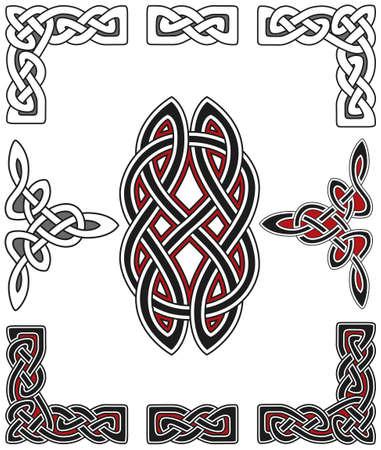 celtico: Insieme di elementi di design celtica Vettoriali