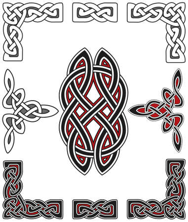 gaelic: Set of celtic design elements Illustration