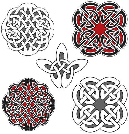 Set of celtic design elements Stock Vector - 8503978