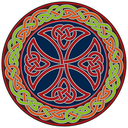 celtic cross: Celtic cross design element Illustration