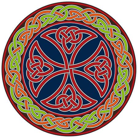 croce celtica: Elemento di design croce celtica