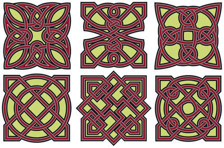 Set of celtic design elements Illustration