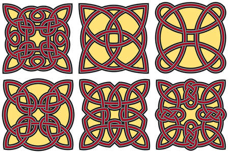 Set of celtic design elements Stock Vector - 8504077