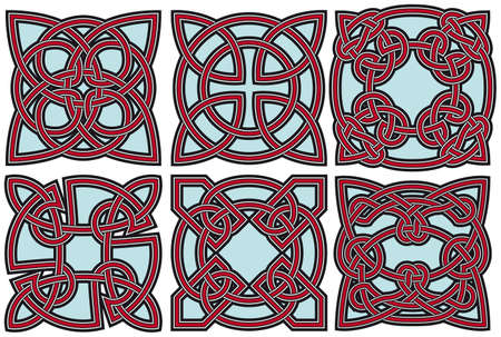 Set of celtic design elements Stock Vector - 8504081