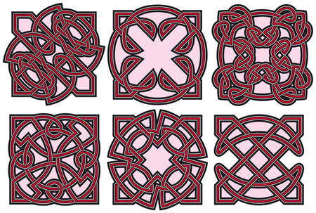 Set of celtic design elements Stock Vector - 8504302