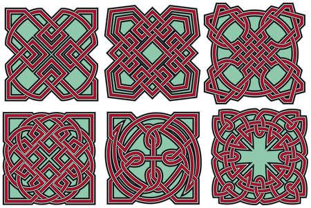 Set of celtic design elements Stock Vector - 8504298